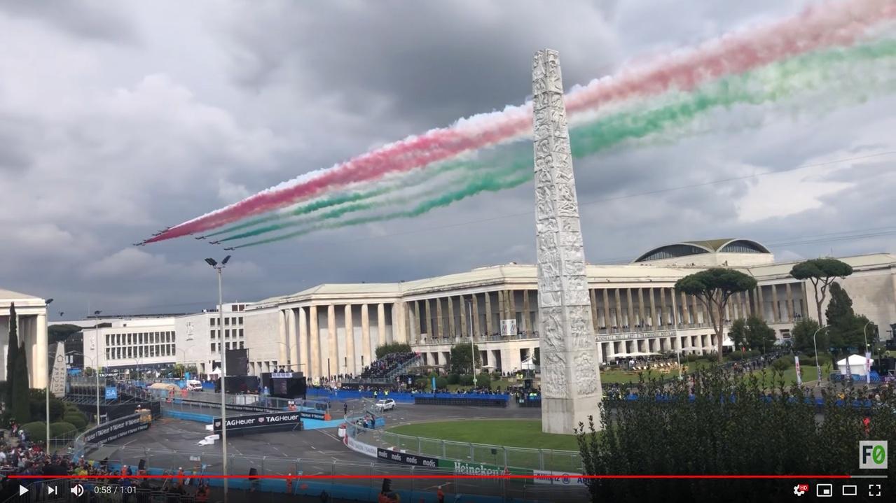 Frammenti significativi del Formula E Roma E-Prix 2019