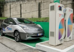 Nissan Leaf 2017 Vehicle to grid Genova IIT