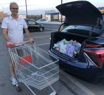 Al supermercato con l'auto a idrogeno