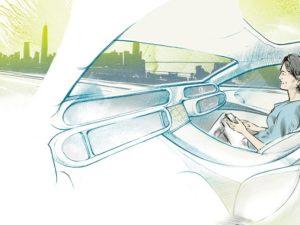 Guida autonoma VW interno auto