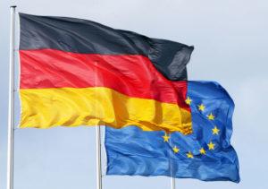 Bandiera tedesca e UE