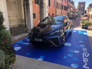 Toyota Mirai a Mestre per nuovo distributore idrogeno a Venezia