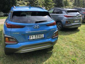 Hyundai Kona Hybrid serie da dietro