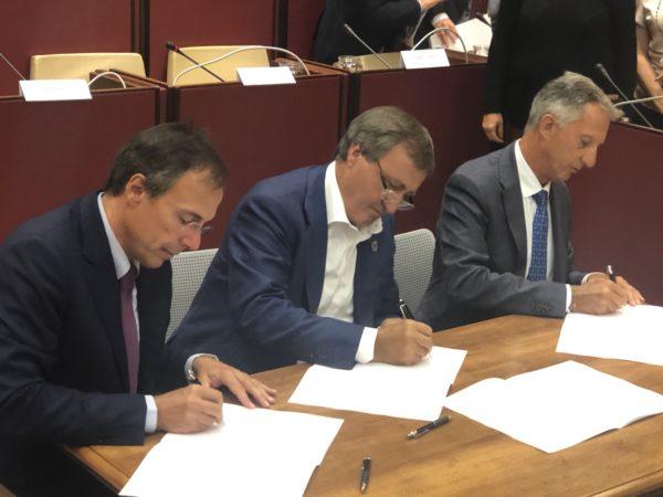 Firma accordo idrogeno Eni Toyota Comune di Venezia