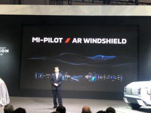 Realtà aumentata parabrezza Mitsubishi Mi-Tech