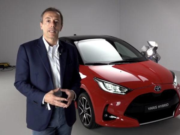 Mauro Caruccio con Toyota Yaris Hybrid 2020