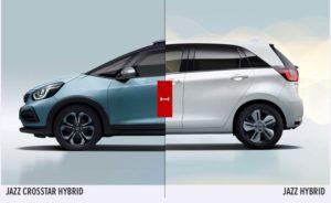 Honda Jazz Hybrid e Jazz Crosstar a metà
