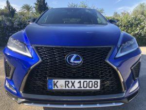 Lexus Rx Hybrid 2020 muso primo piano