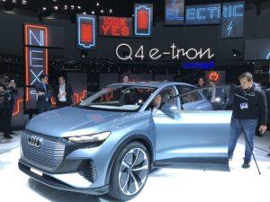 Audi Q4 e-tron prototipo salone ginevra 2019