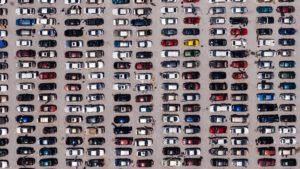 Parcheggio auto dall'alto