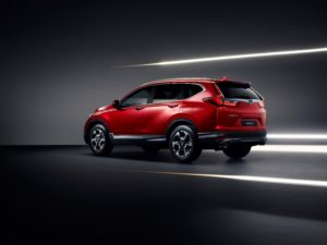 Hinda CR-V Hybrid posteriore rosso