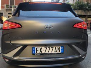 Posteriore con scritte Hyundai Nexo a idrogeno 2019