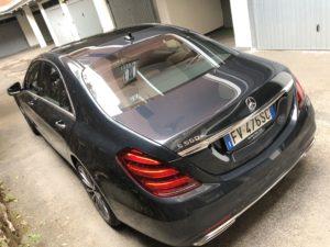 Mercedes 560e EQ Power posteriore da alto