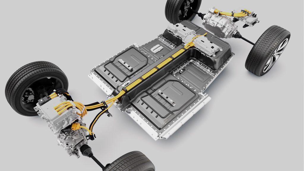 Batteria della Volvo XC40 Recharge