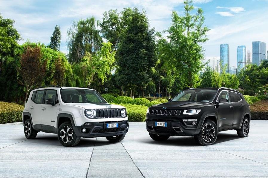 Jeep entra nell'era elettrica con Renegade e Compass 4Xe, ibride plug-in e integrali