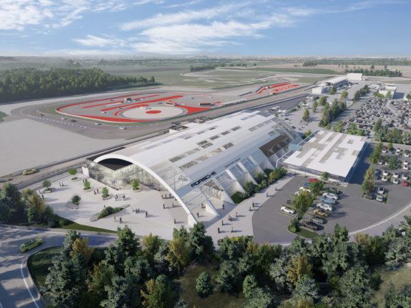 Veduta aerea Porsche Experience centre franciacorta+