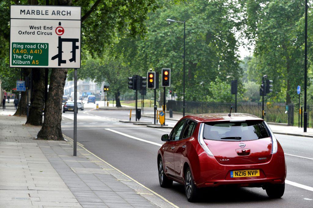 Nissan Leaf Londra test