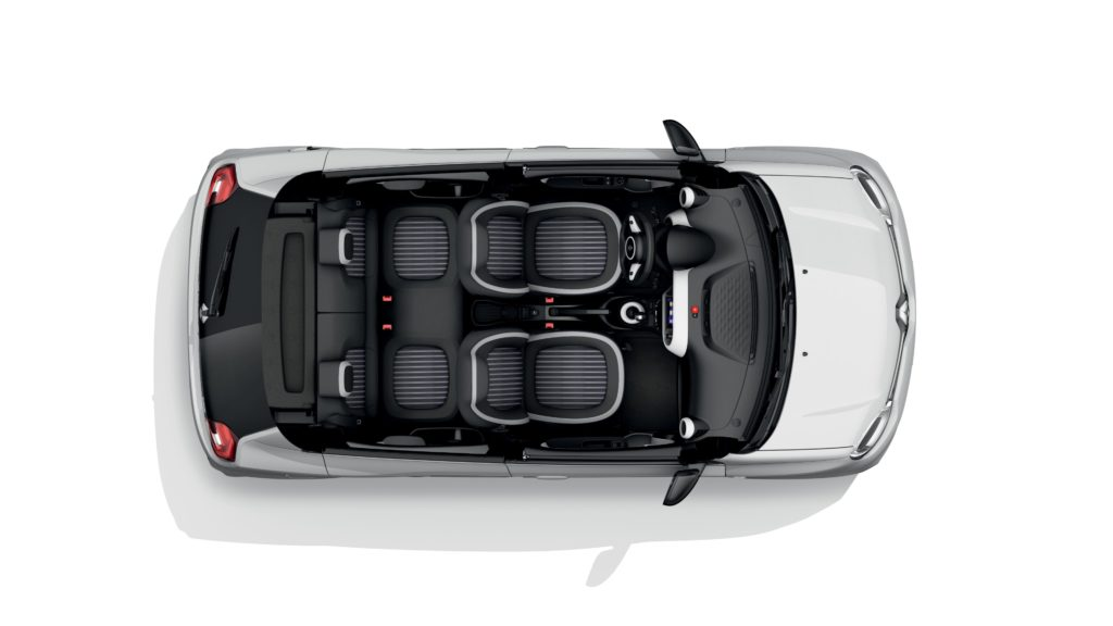 Renault Twingo elettrica interni dall'alto