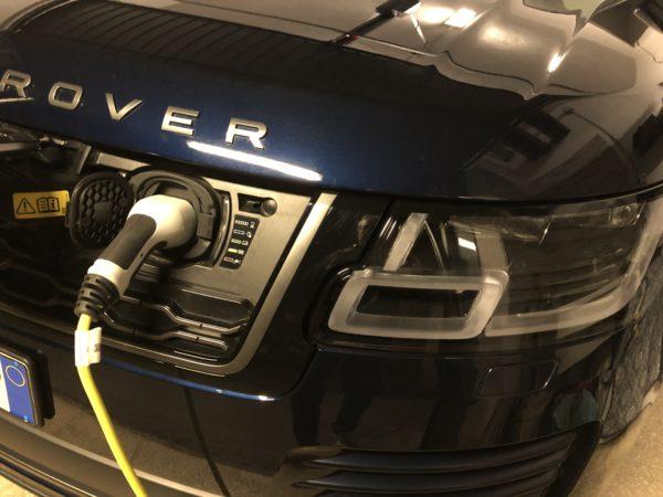 Range Rover Phev presa ricarica