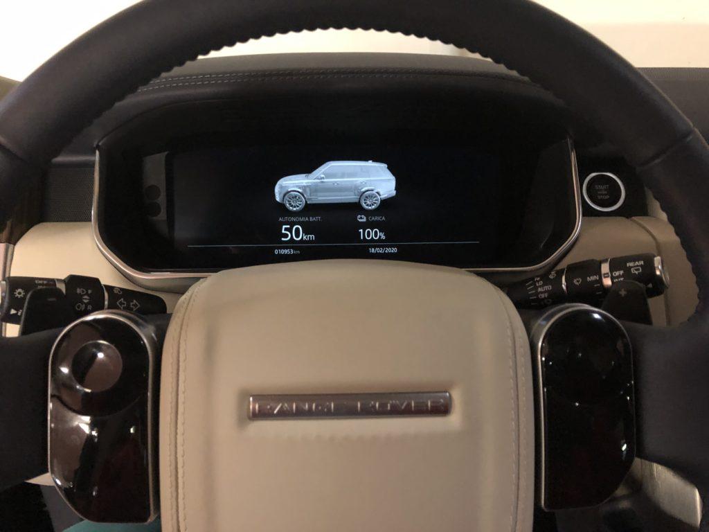Display ricarica dietro volante RR Phev