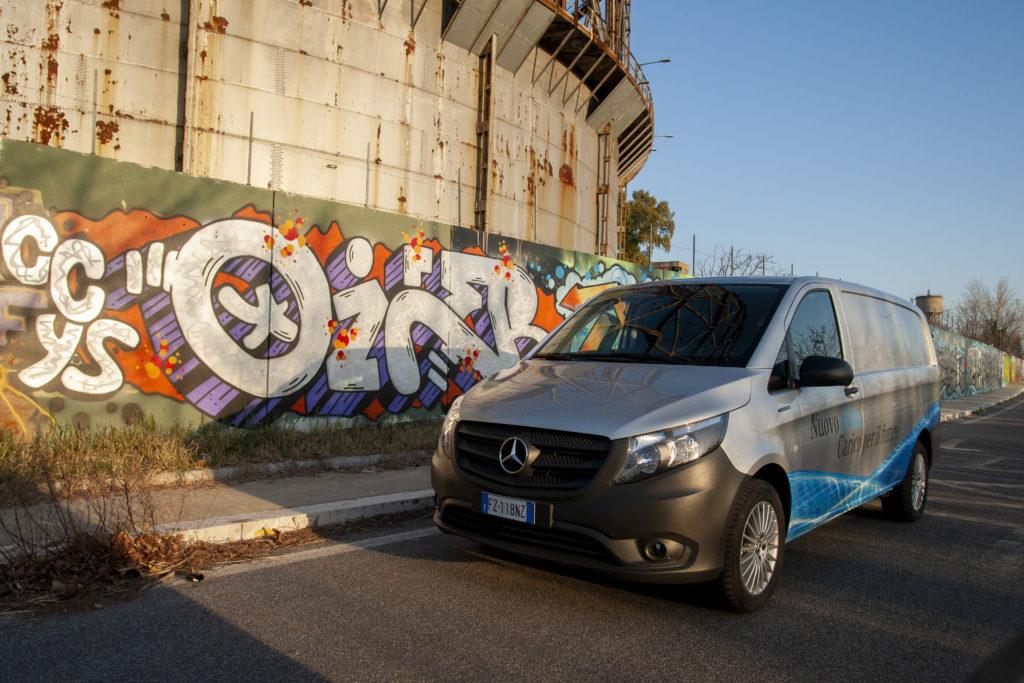 Mercedes eVito a Roma