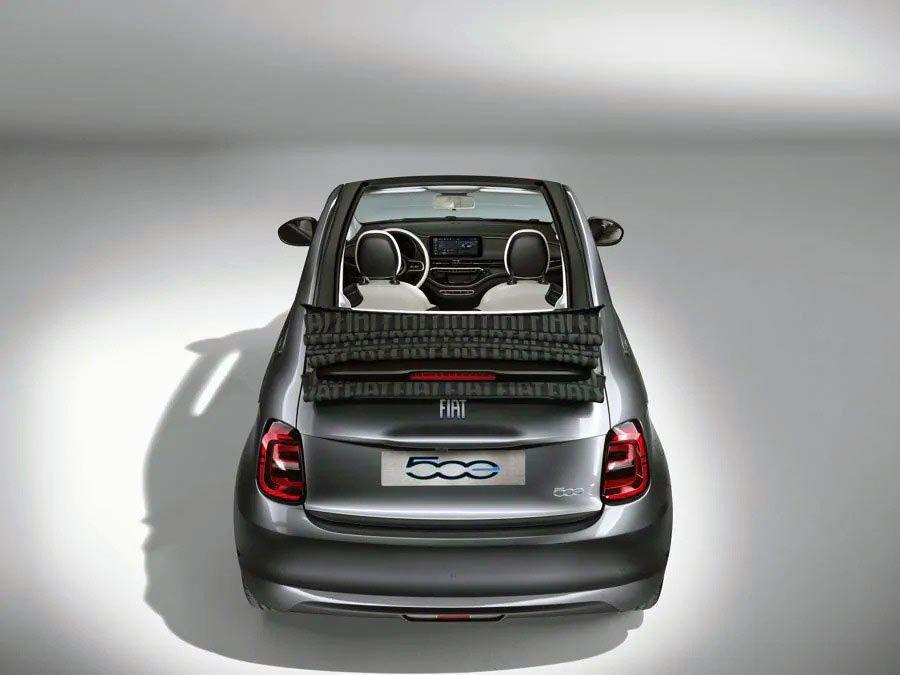 Fiat 500 elettrica posteriore