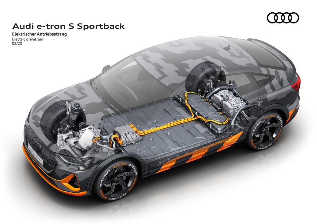 Audi e-tron sistema elettrico