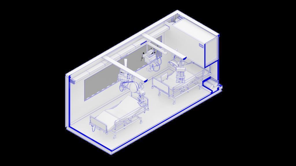 Interno container sistema CURA