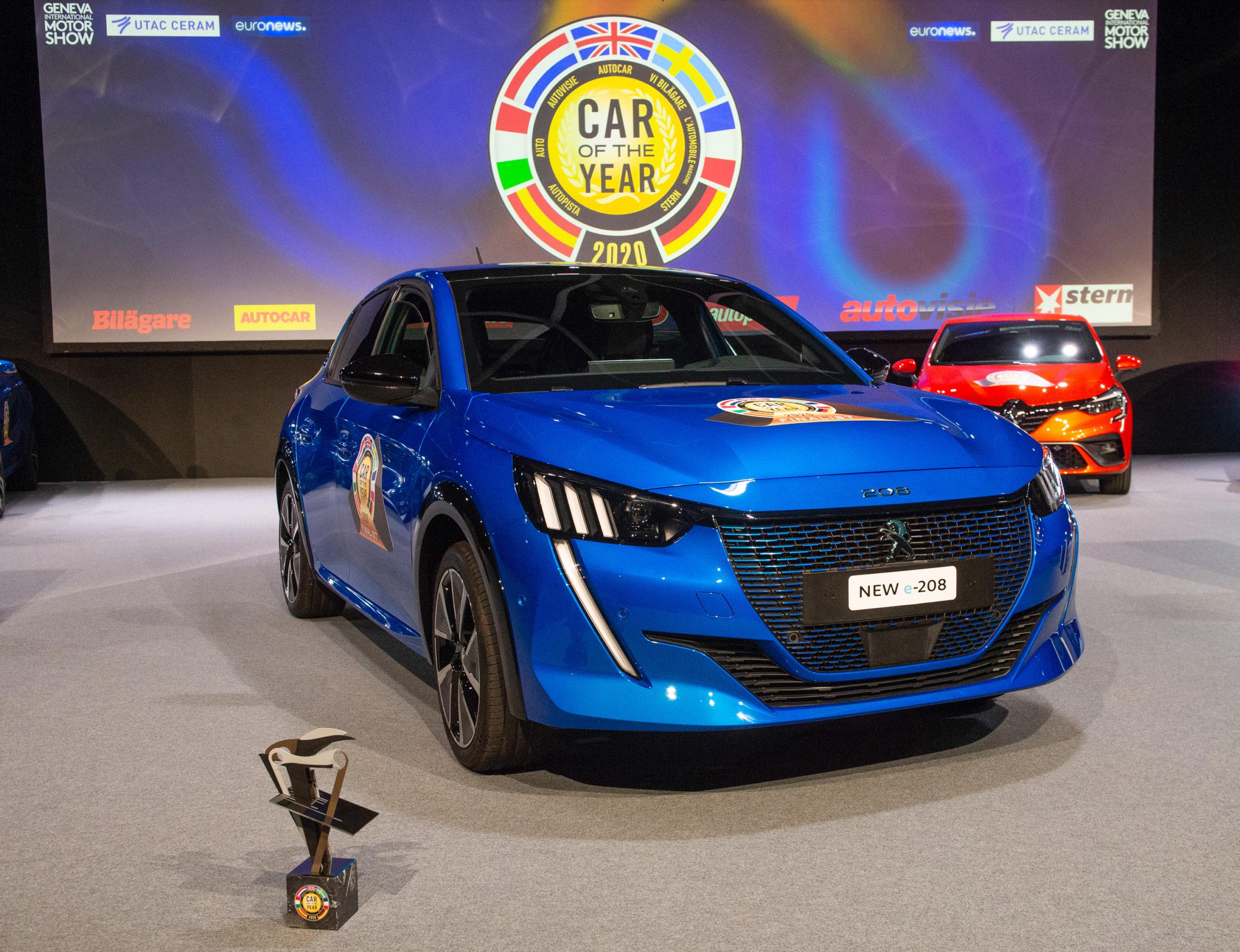 Peugeot 208 Auto dell'anno 2020, il podio è tutto elettrico
