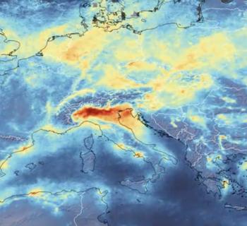 ESA immagine inquinamento Italia
