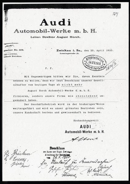 Audi Horch documento