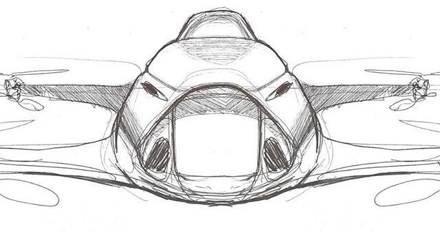 Airspeeder bozzetto auto volanti