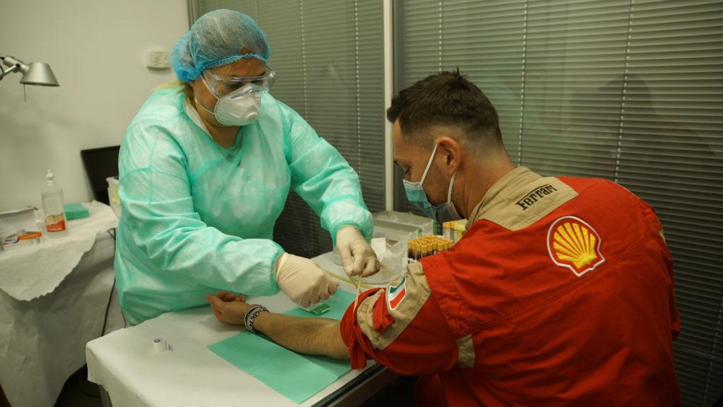 Test sierologici Ferrari produzione