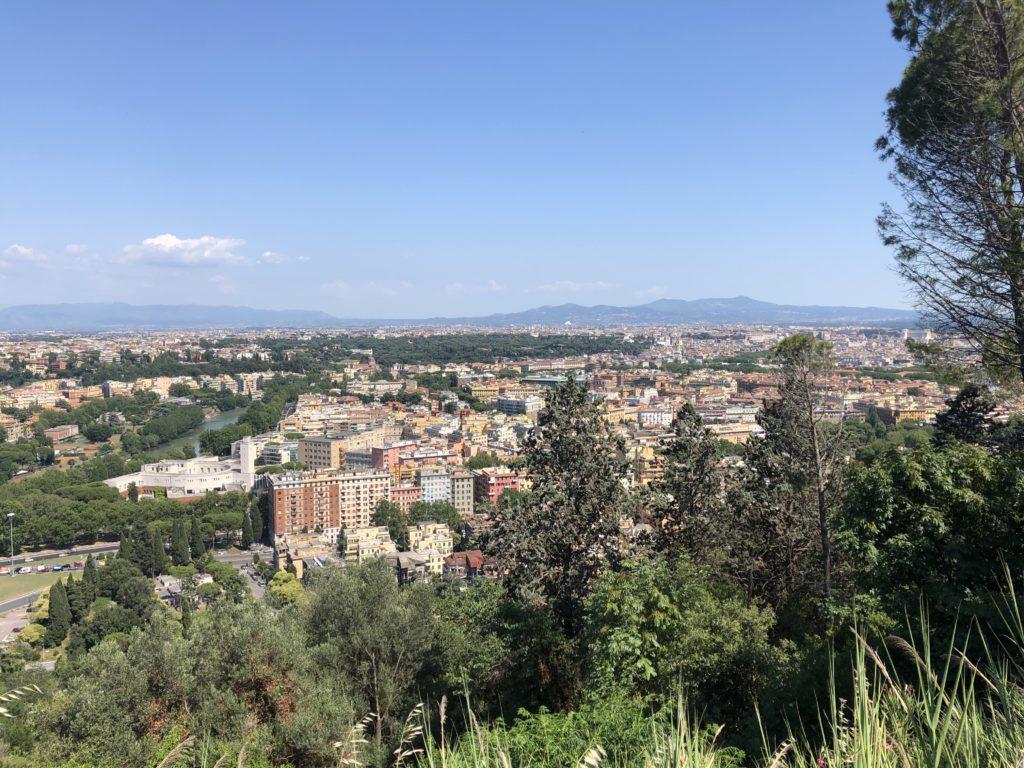 Vista Roma dallo zodiaco Monte Mario