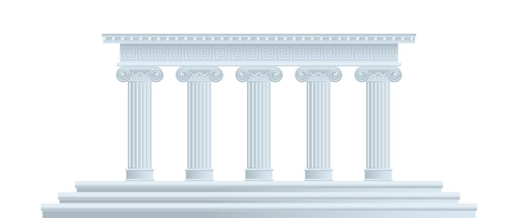 Cinque pilastri bianchi