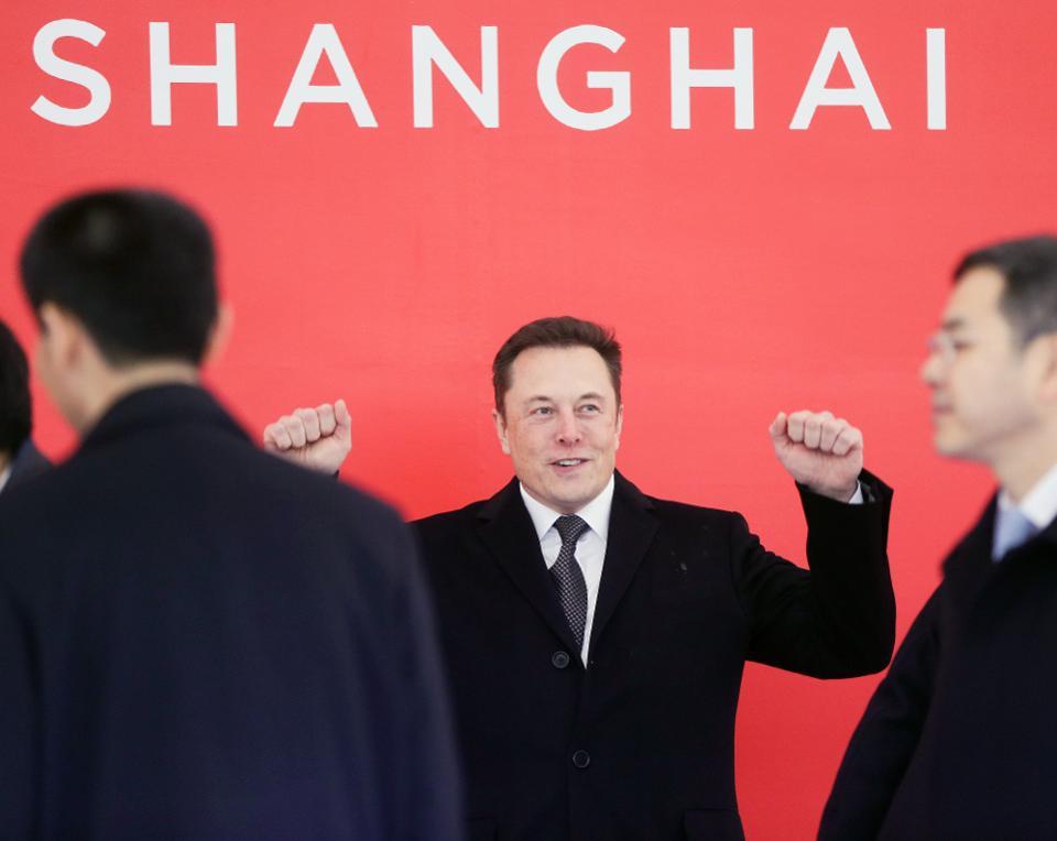 Elon Musk Shanghai Cina
