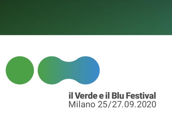 Verde e blu festival logo