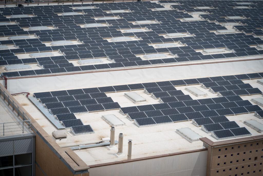 Toyota green pannelli solari sopra la sede di Roma