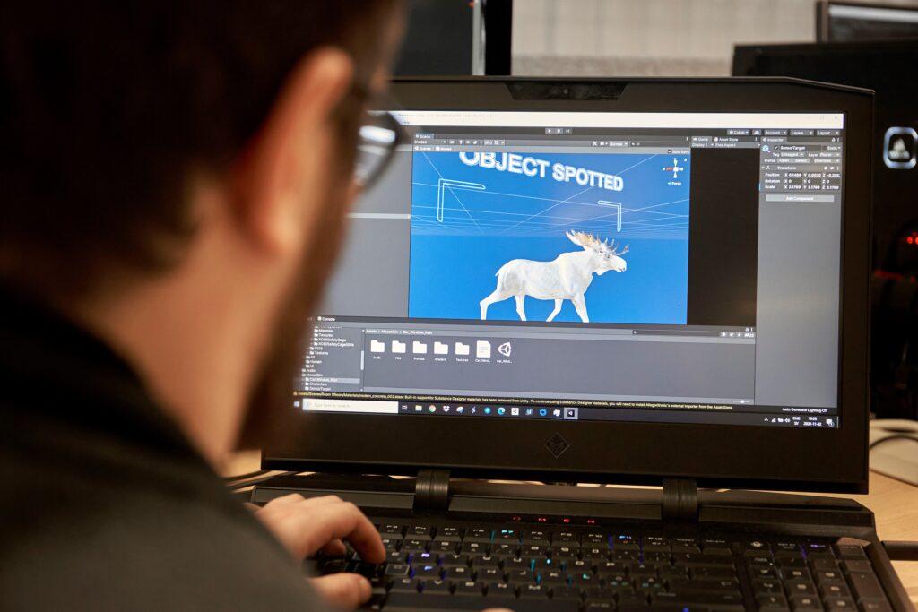 Dettaglio simulatore Volvo