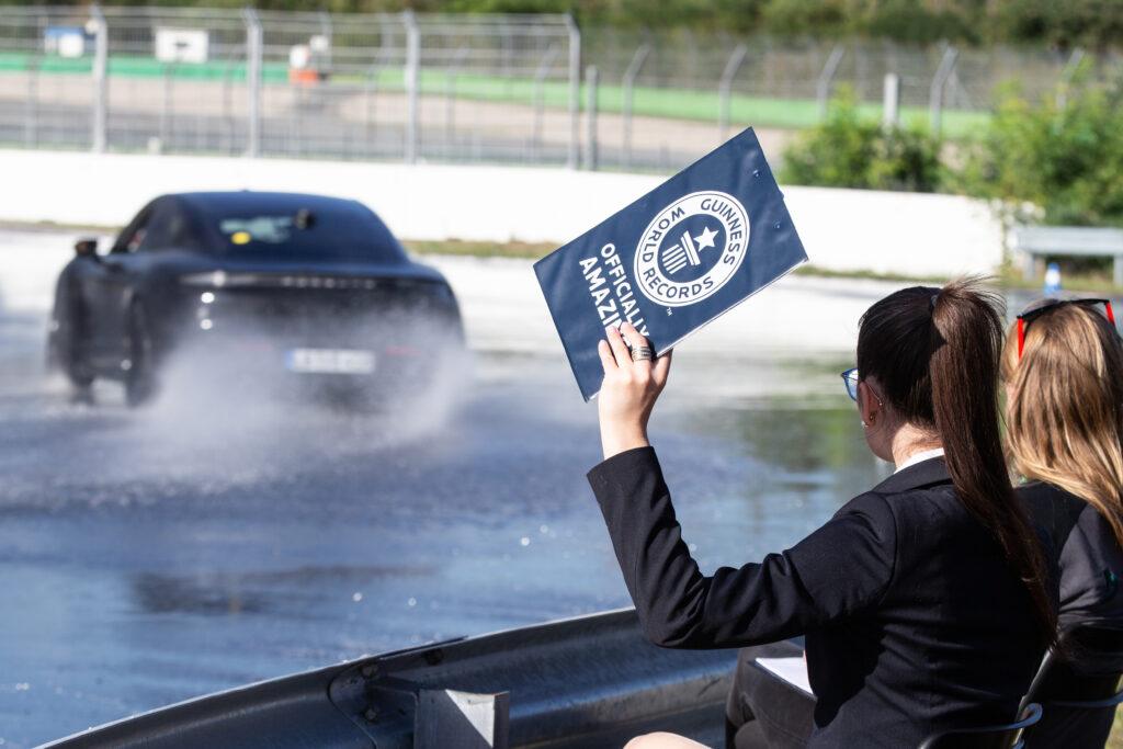 Porsche derapata record Guinness
