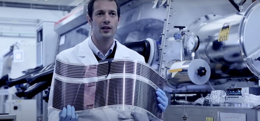 Pannello fotovoltaico film sottile OPV flessibile