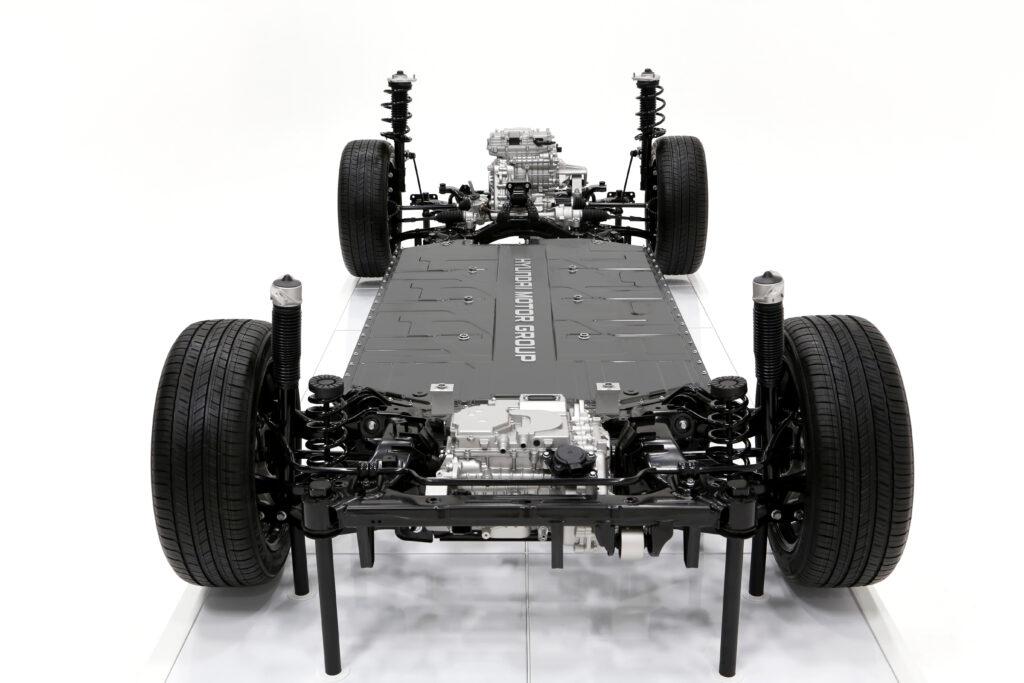 Piattaforma Hyundai E-GMP davanti