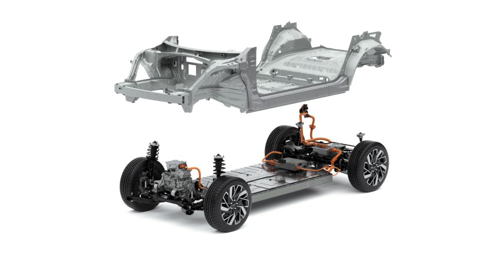 Piattaforma Hyundai E-GMP tre quarti