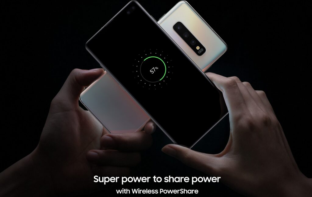 Samsung Galaxi PowerShare con scritta