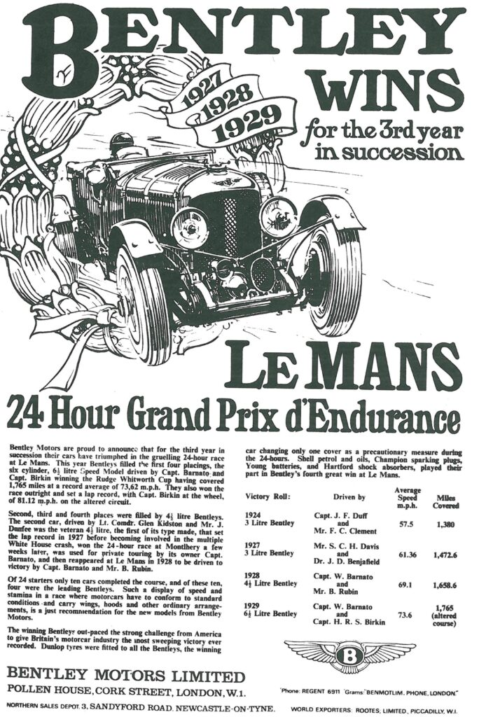 Bentley Le Mans 1929