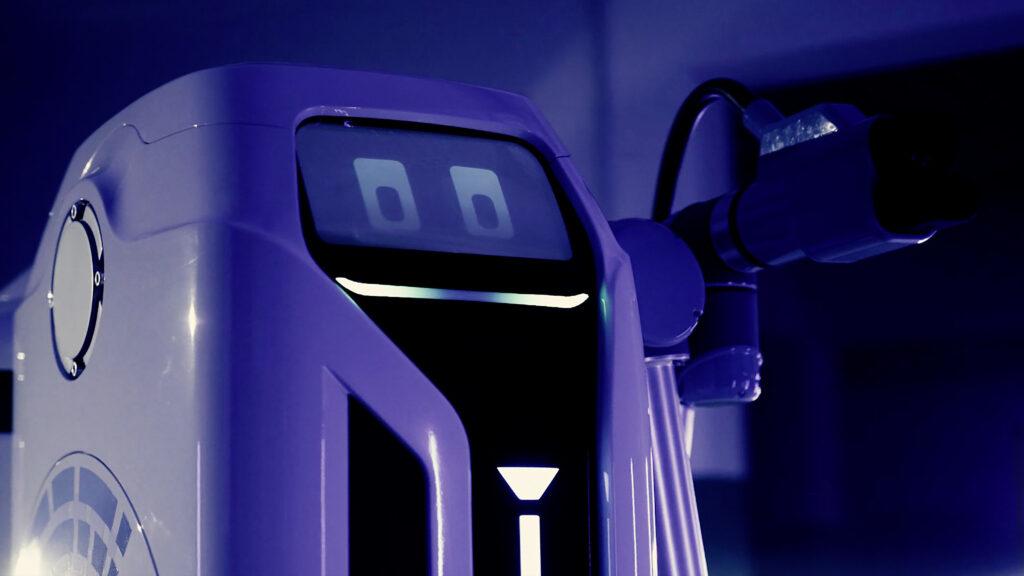 Robot ricarica faccia umana
