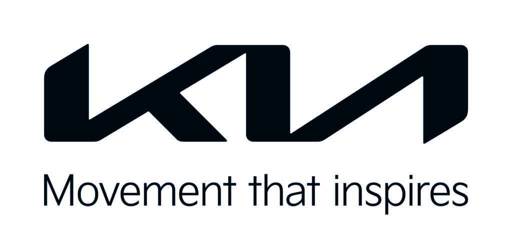 Marchio Kia con slogan