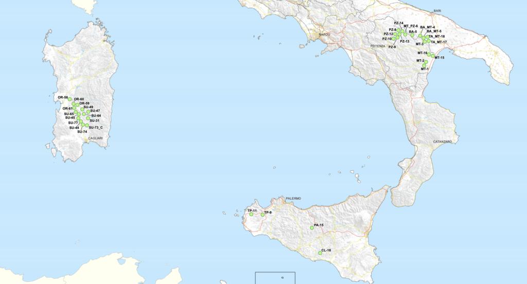 Deposito rifiuti nucleari mappa sud Italia