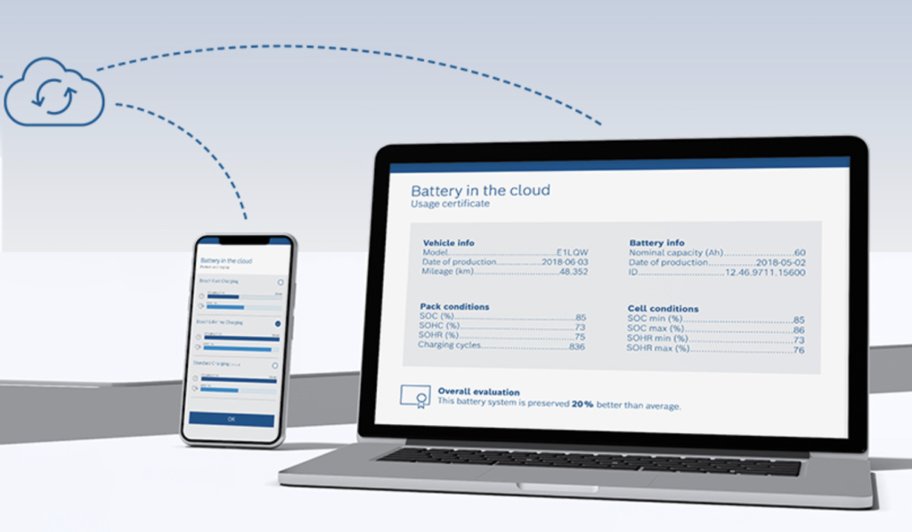 Bosch dati batteria sullo schermo