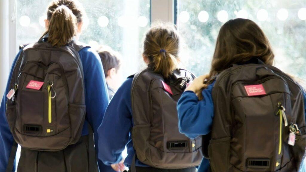 Bambini scuola zaino Dyson qualità dell'aria